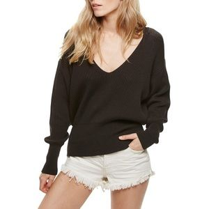 Free People Allure V Neck Sweater